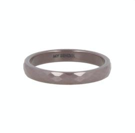 My Bendel - Ring Keramiek - Taupe - facet