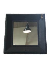 Art Sensation spiegel vierkant - mat zwart
