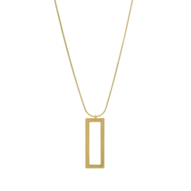 Dansk ketting Theia Open Square - Goud - 9C6600