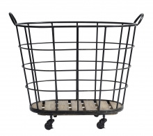 Nordal Downtown iron basket black