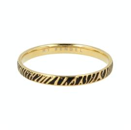 My Bendel - Ring - Zebraprint - Goud