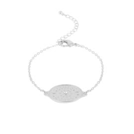 Dansk armband - Daisy Oval Silver - 7C5329