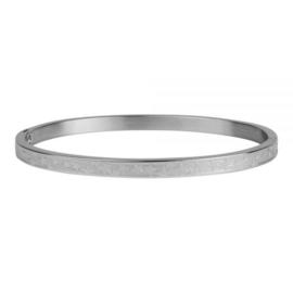 Kalli armband 2126 -  4 mm - Sterrenprint Zilver