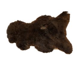 Dyreskinn schapenvacht bruin