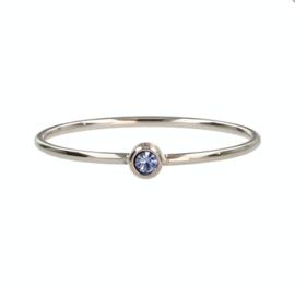 My Bendel - Ring met steen - Blauw - Zilver