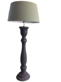 Lamp roestlook met groene kap