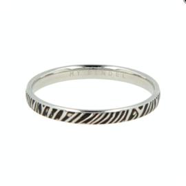 My Bendel - Ring - Zebraprint - Zilver