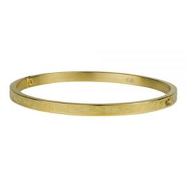Kalli armband 2126 -  4 mm - Sterrenprint Goud