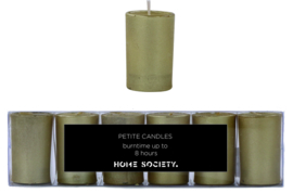 Home Society kaars in glas goud - set van 6