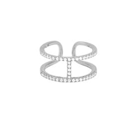 Dansk Ring - Shimmer Line Silver - 1A1005