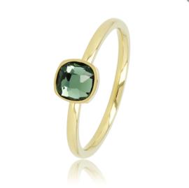 My Bendel - Ring met groene steen - Goud