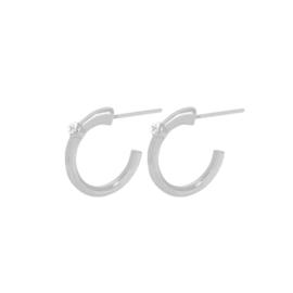 Dansk oorbel - Single  Hoop Silver 3A3009