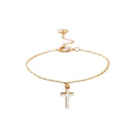 Dansk armband - Shimmer Cross Gold - 7A7000