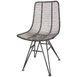 PTMD wire grey dining chair