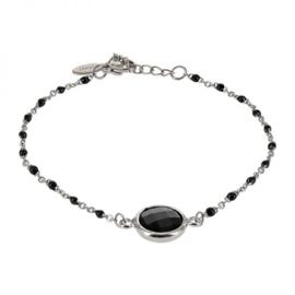Kalli armband 2589 - Zwart/Zilver