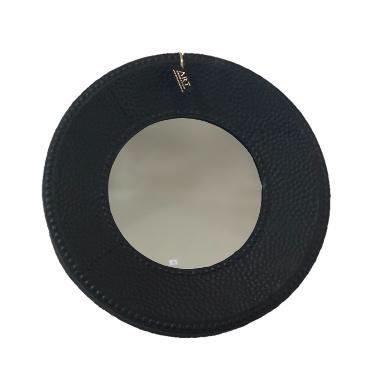 Art Sensation spiegel rond - mat zwart