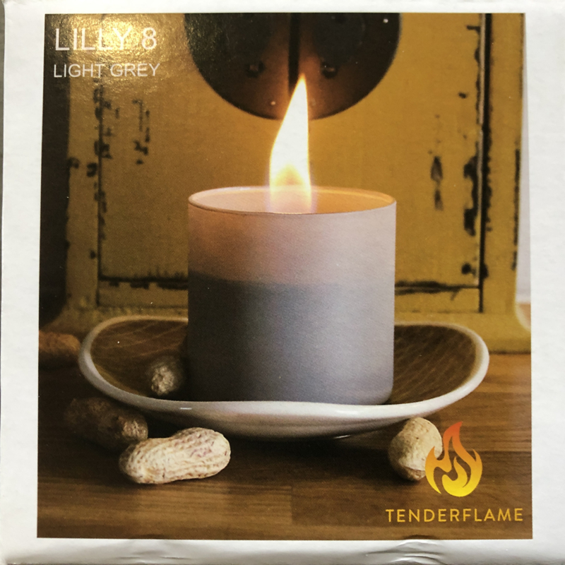 Tenderflame Lilly - 8 cm - Light Grey