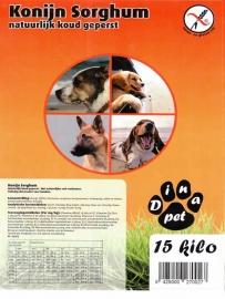 Dinapet Graanvrij, Konijn Sorghum Sensitive 5 kg 100% tarwe en gluttenvrij (Natuurlijk koud geperste brok) Konijn Sorghum 15 kg