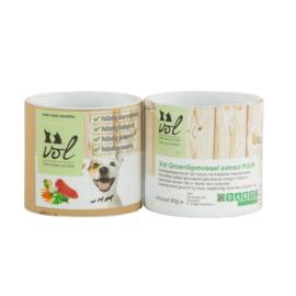 Vol  Groene lipmossel powder pot circa 70 gram