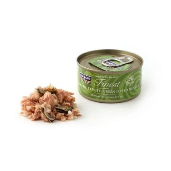 Finest Fish4Cats Tuna Fillet with Green Lipped Mussel