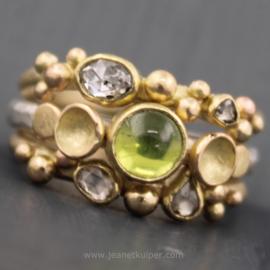 antieke diamant en peridot