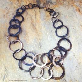 collier van geoxideerd zilver