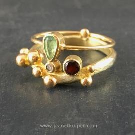 vermaakte en verbonden ring