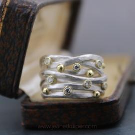 draadring met 7x diamant
