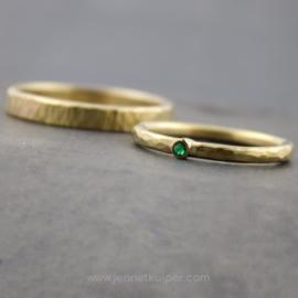 minimalistisch met smaragd