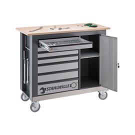 Stahlwille WB620 verrijdbare werkbank + set 1500TCS (110 delig)