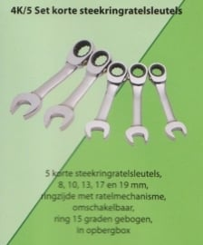 Stahlwille 4K/5 Steek ring ratel set, shorty