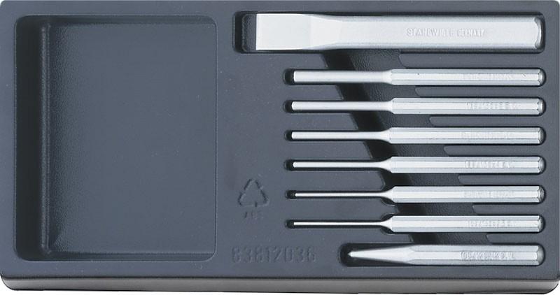 Stahlwille 96838124 pendrijver/beitel set ABS