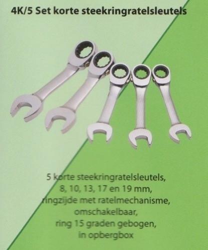 Stahlwille 4K/5 Steek ring ratel set, shorty