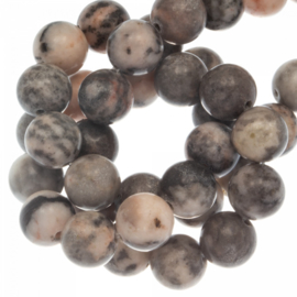 Zebra Jasper pink grey 4mm H2821