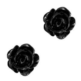 Roosje 10mm zwart 69136