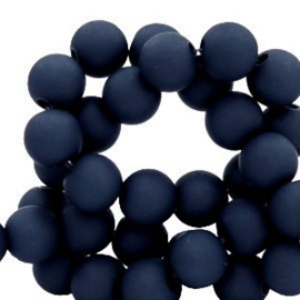 Acrylkraal 8mm rond  dark peacoat blue 69676