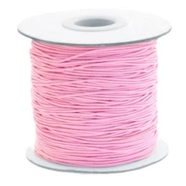 Elastisch draad 0,8mm pink 1 meter 56833
