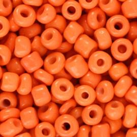 Rocailles 4mm 6/0 flame orange 71182