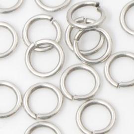 DQ Ringetje 4,5x1mm 20 stuks antiek zilver mf6369