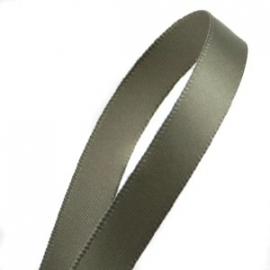 Satijnlint 10mm per meter army olijf groen