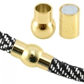BQ magneetslot voor 6,2mm Ø goud 27189