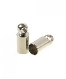 Eindkapje voor 2mm nikkelkleur