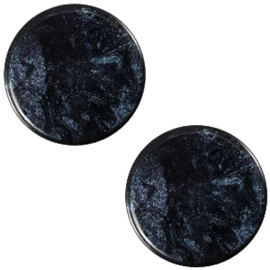 Cabochon Polaris plat 12mm jais montana blue 32575