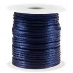 Satijnkoord donkerblauw 2mm per meter Pv111