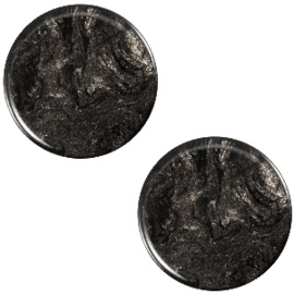 Cabochon Polaris plat 7mm jais black 32543