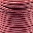 DQ Leer rond 2mm donker roze per 20cm