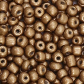 Rocailles 4mm 6/0 antique gold brown metallic 50046
