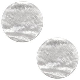 Cabochon Polaris plat 12mm sparkle dust ice grey 38666
