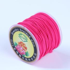 Elastisch draad 0,8mm fuchsia 1 meter (licht elastisch)