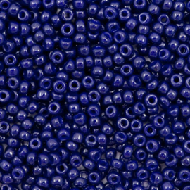 Miyuki rocailles 11/0 (2mm) duracoat opaque dyed dark navy blue 11-4494